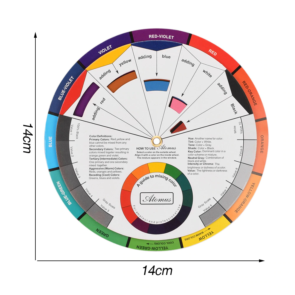 Color Mixing Wheel for Artists